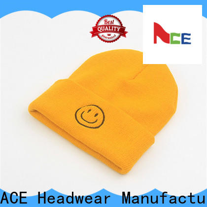 solid mesh red knit beanie patch supplier for beauty