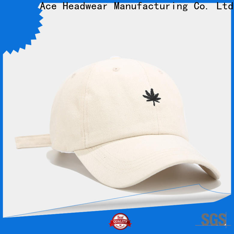 ACE embroidery fashion baseball caps free sample for man