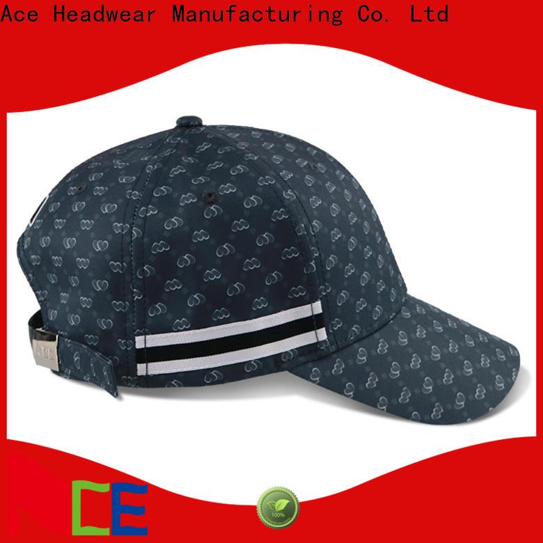 ACE portable plain 6 panel hat supplier for kids