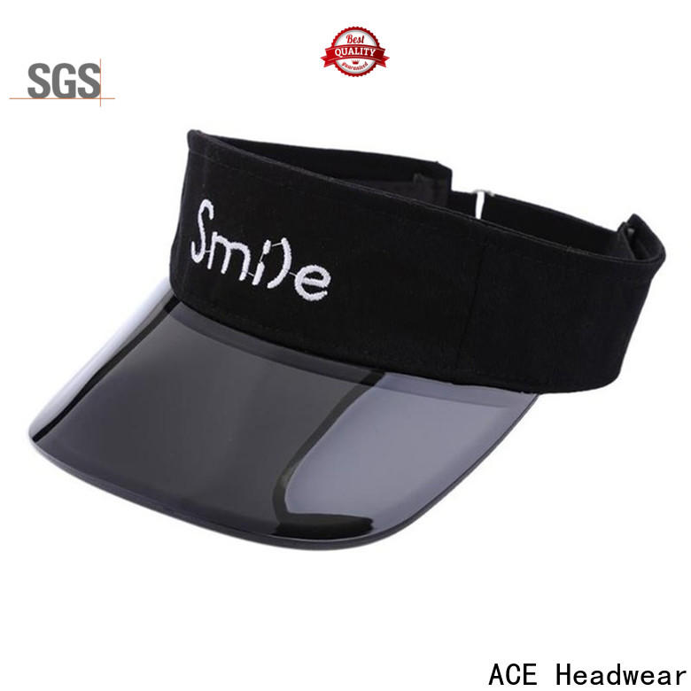 ACE black custom visor hat get quote for fashion