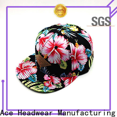 ACE latest customized caps factory for fashion