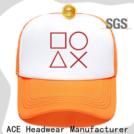 ACE leather youth trucker cap company for man