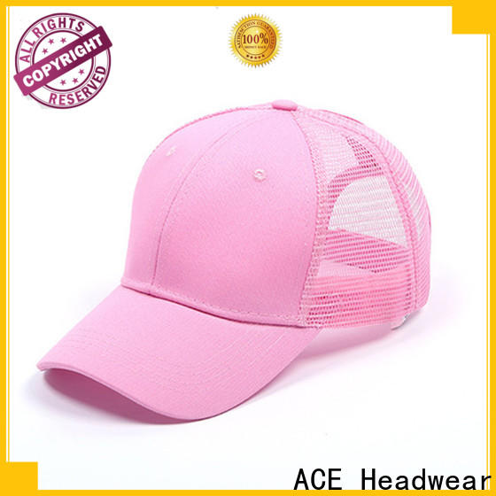 ACE words custom hat maker company for fashion