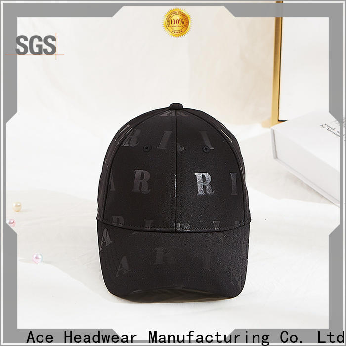 ACE panel baseball caps suppliers free sample for fashion