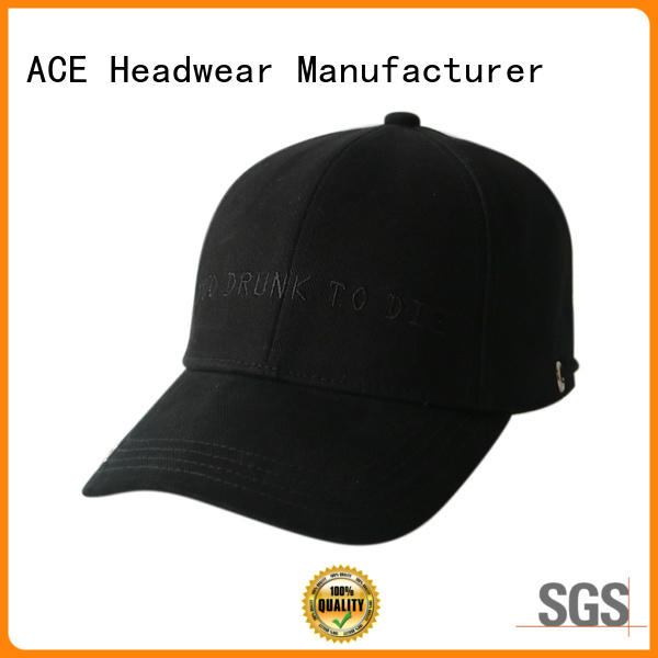ACE durable green baseball cap ODM for beauty