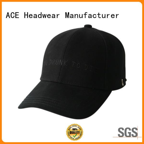 ACE durable green baseball cap ODM for beauty