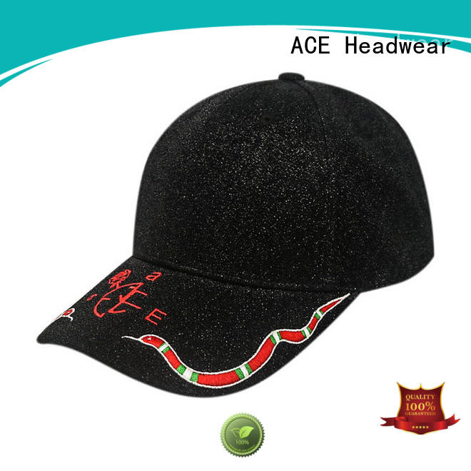 ACE durable leather baseball cap buy now for fashion