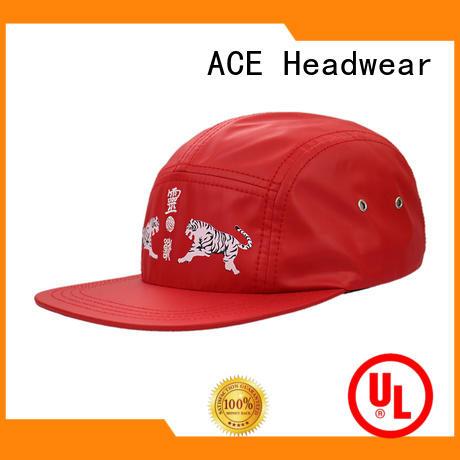 ACE pringting black snapback hat supplier for fashion