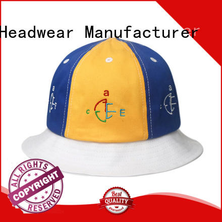 Breathable blue bucket hat style ODM for fashion