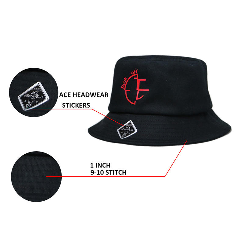 ACE brim red bucket hat supplier for fashion-1