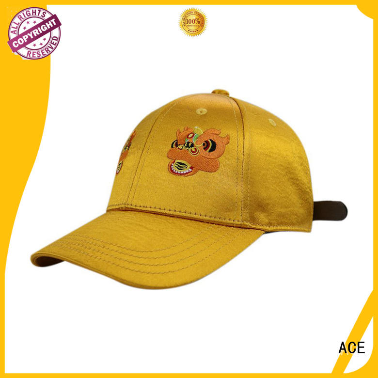ACE portable fashion baseball caps OEM for baseball fans