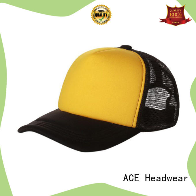 ACE portable wholesale trucker hats bulk production for fashion