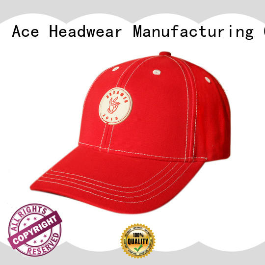 ACE at discount embroidered baseball caps supplier for baseball fans