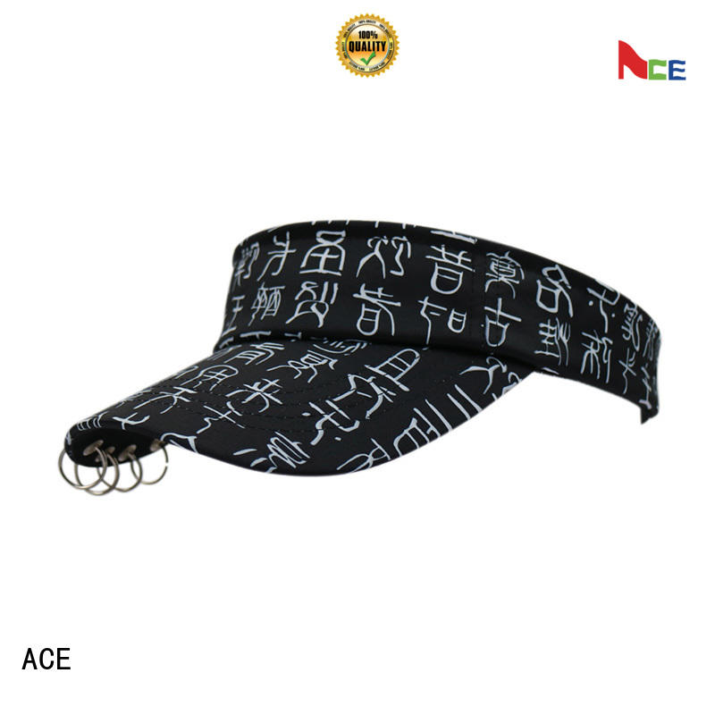 ACE black wholesale sun visors buy now for fashion