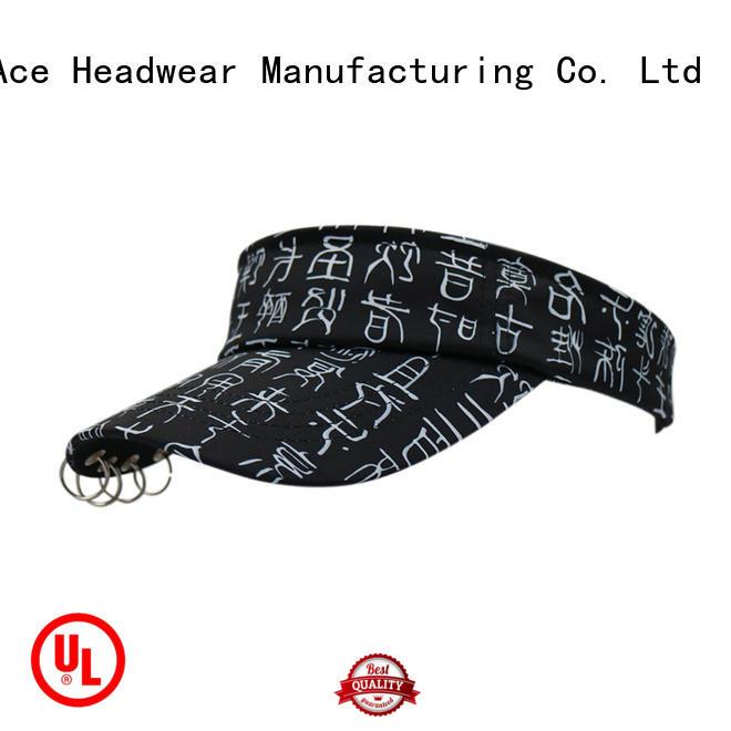 solid mesh sport sun visor hat for wholesale for beauty ACE
