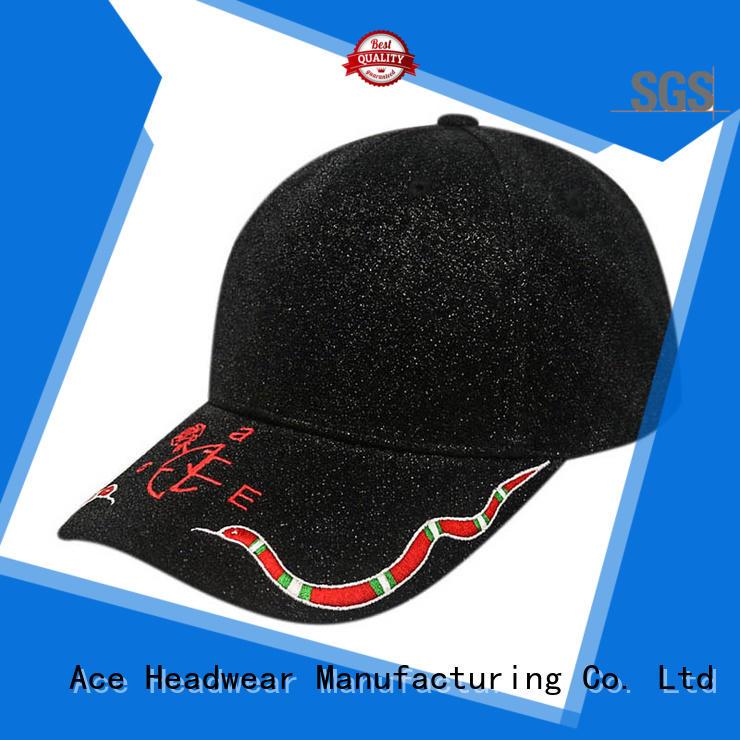 ACE freedom black baseball cap mens OEM for baseball fans
