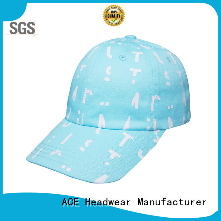 Breathable white dad hat printing ODM for fashion