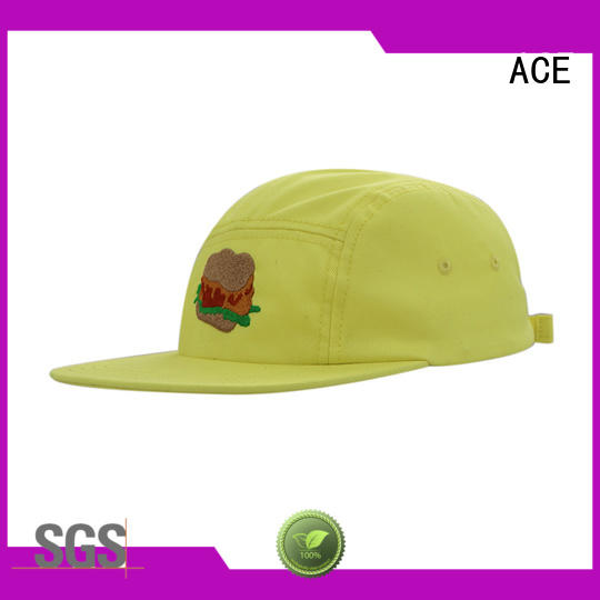 ACE grain black snapback hat OEM for beauty