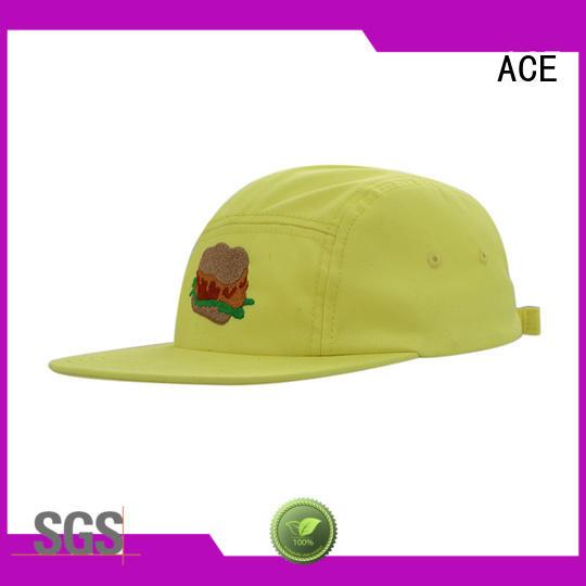 ACE grain black snapback hat OEM for beauty