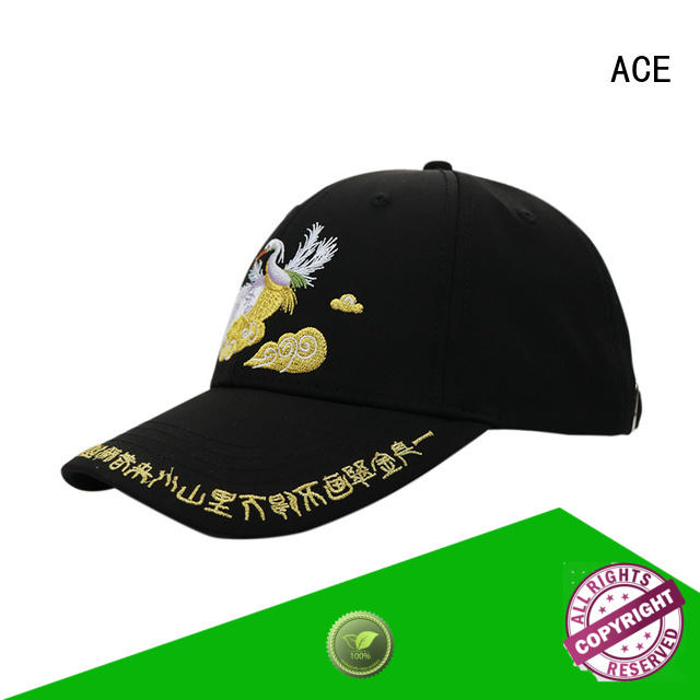 ACE at discount black baseball cap customization for beauty