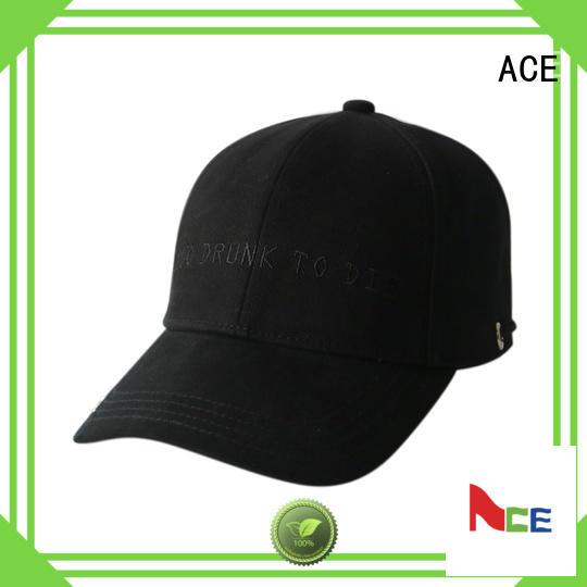 ACE corduroy logo baseball cap supplier for beauty