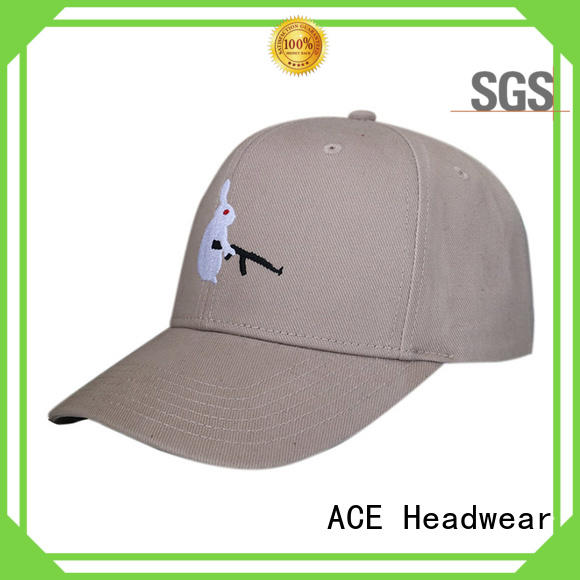 ACE fashion baseball cap with embroidery bulk production for beauty