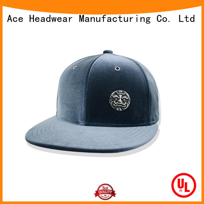 ACE durable plain snapback hats knitting for beauty