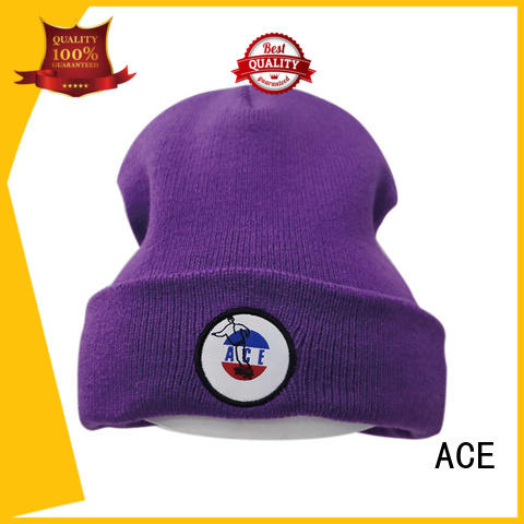 ACE solid mesh knit beanie hats for wholesale for fashion