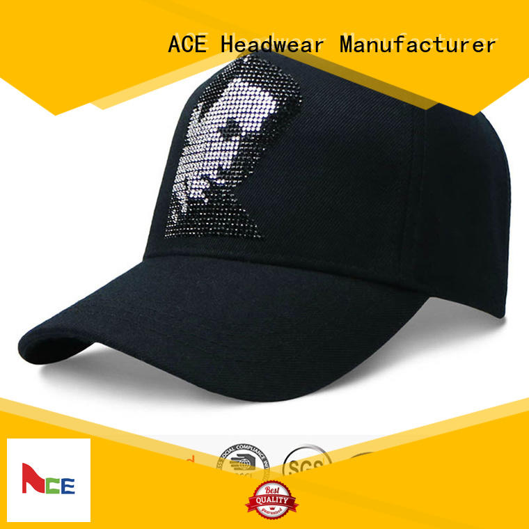 ACE cap embroidered baseball cap for baseball fans