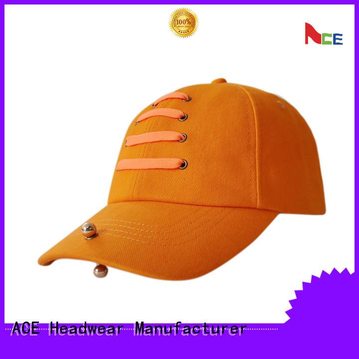 ACE solid mesh green baseball cap customization for baseball fans