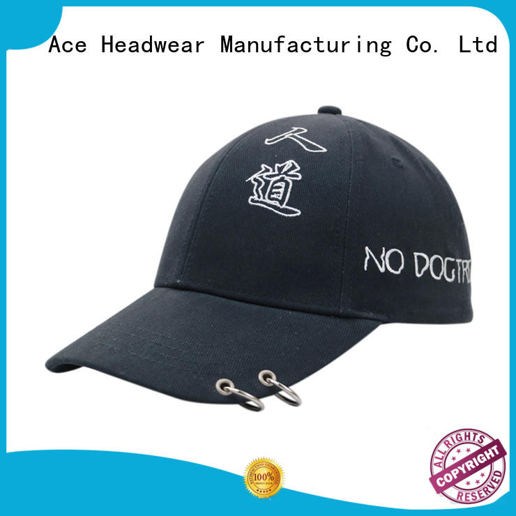 ACE flower embroidered baseball caps for wholesale for fashion