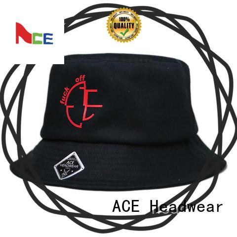 ACE cotton custom bucket hats customization for beauty