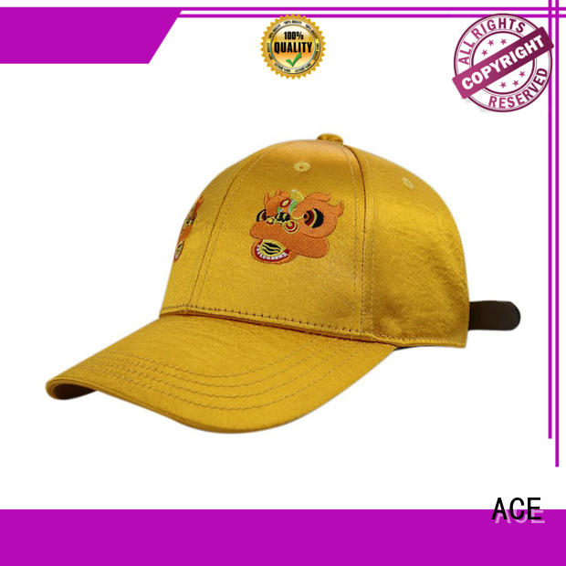 ACE corduroy leather baseball cap supplier for baseball fans