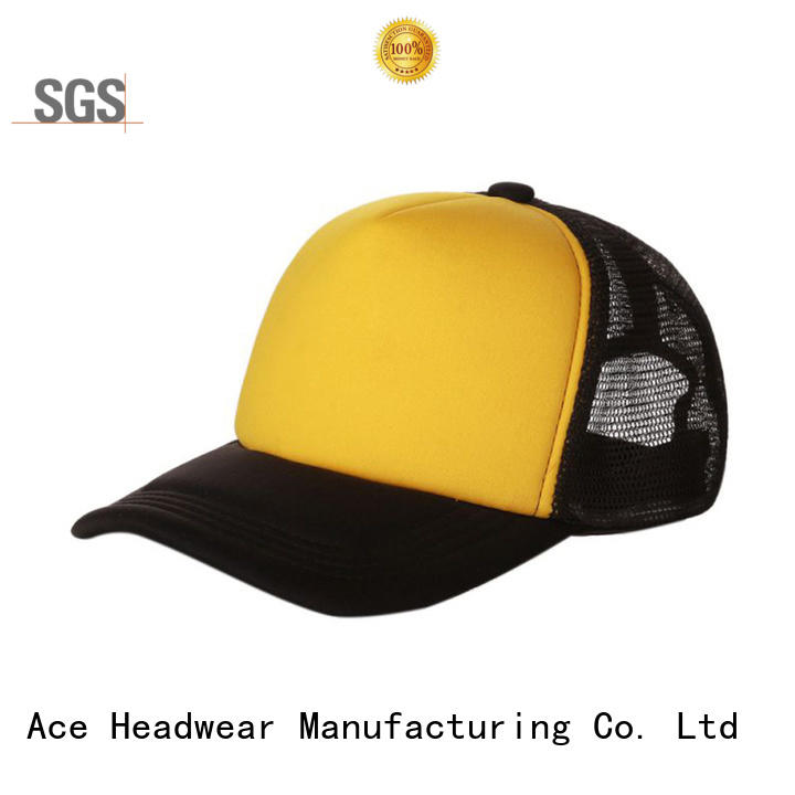 ACE leather outdoor cap OEM for fashion