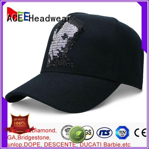 ACE satin yellow baseball cap customization for beauty