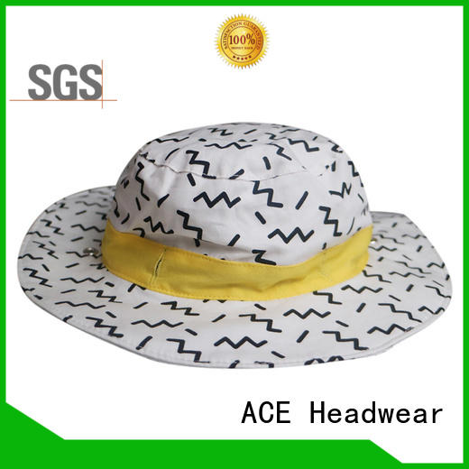 ACE solid mesh white bucket hat ODM for beauty