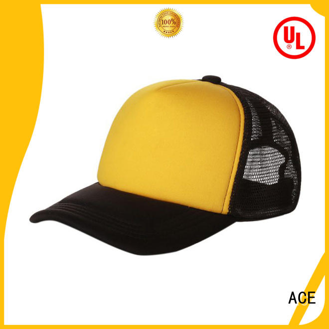 ACE portable trucker caps embroidery OEM for fashion