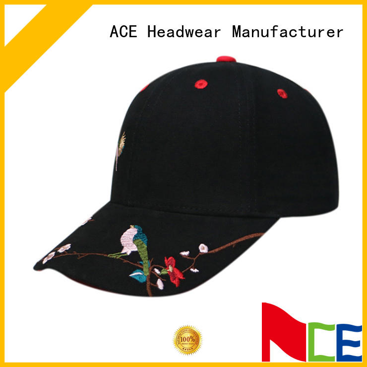 women embroidered baseball cap for fashion ACE