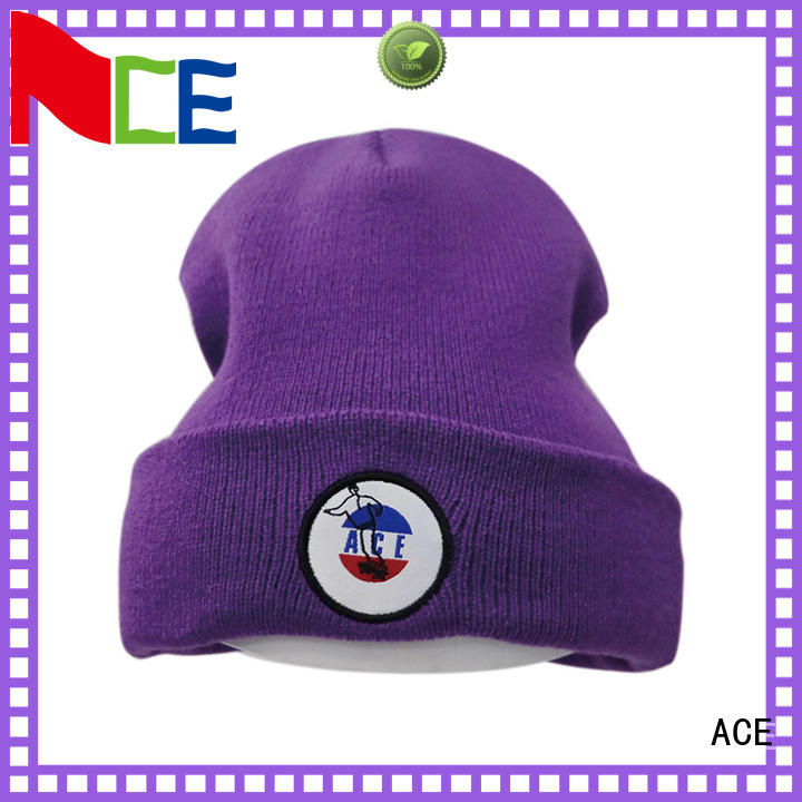 knitted womens knit beanie hats supplier for fashion ACE
