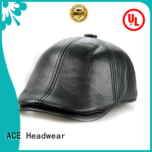 ACE solid mesh black beret hat supplier for fashion