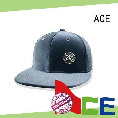 ACE wool plain snapback hats for beauty
