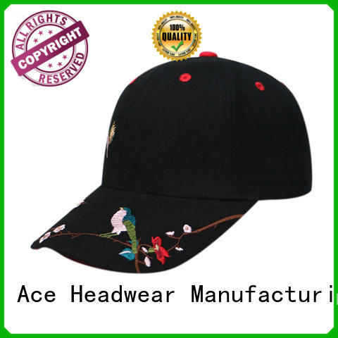 ACE high-quality embroidered baseball caps get quote for baseball fans