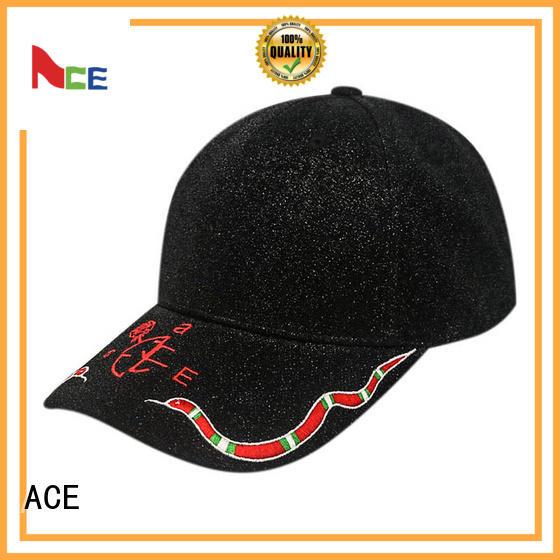 black baseball cap mens cotton for baseball fans ACE