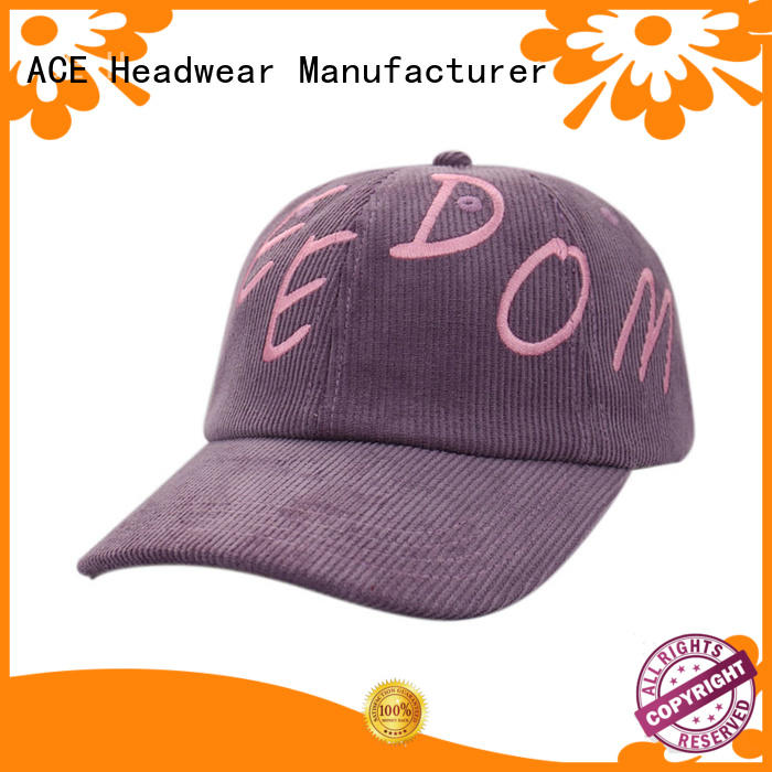 ACE on-sale kids baseball caps bulk production for beauty