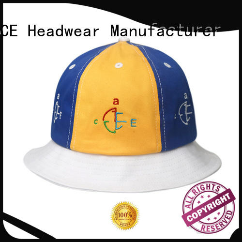 ACE portable black bucket hat OEM for fashion