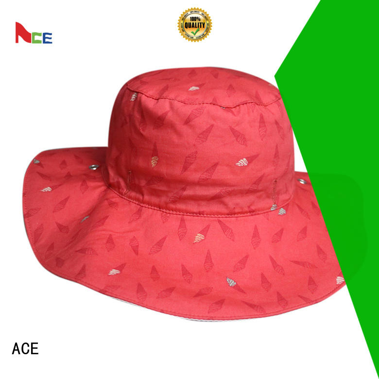 fisherman bucket hat on for fashion ACE