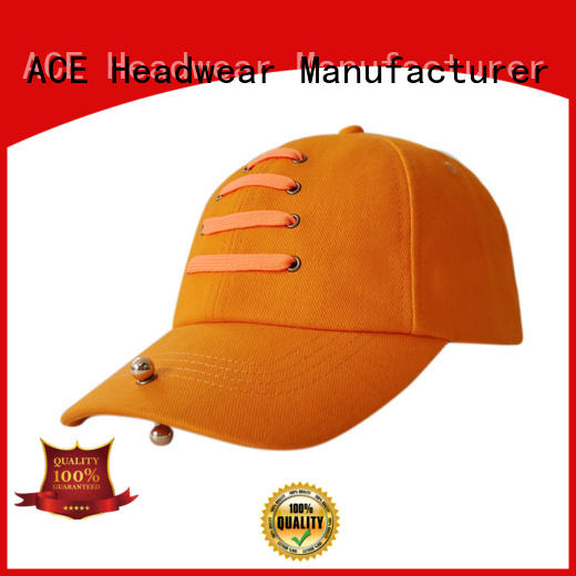 Breathable yellow baseball cap strap free sample for beauty