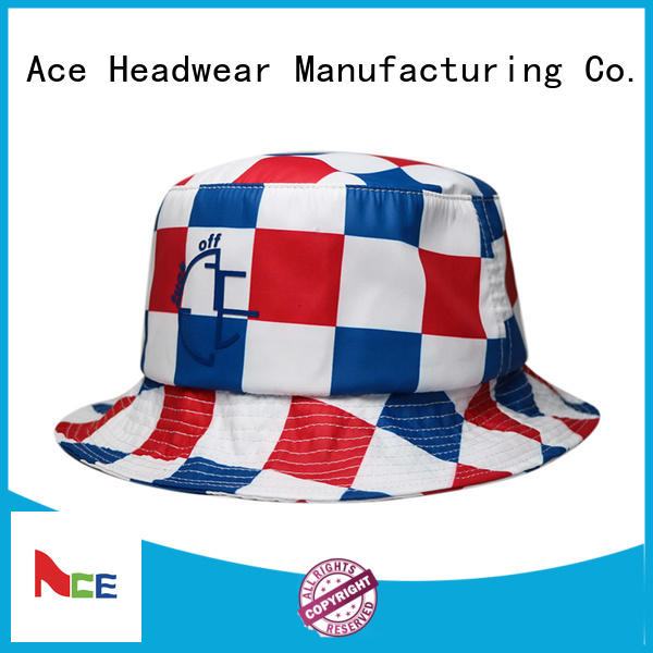 ACE durable colorful bucket hats brim for beauty