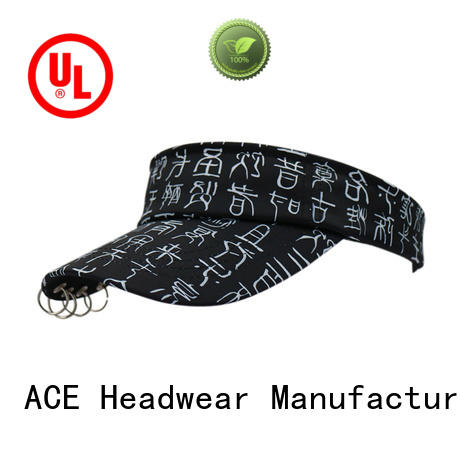 ACE sun ladies sun visor hats free sample for beauty