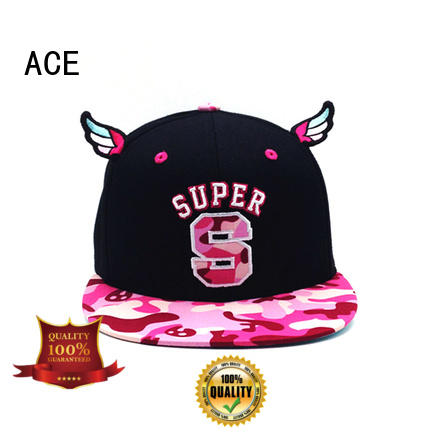customized popular snapback hats yellow for beauty ACE